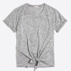 J.Crew Space-dyed Tie-waist Pocket T-shirt